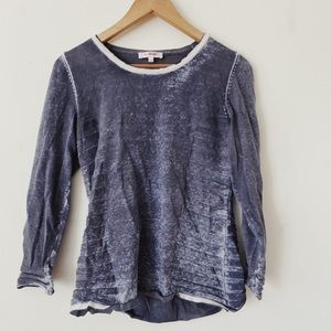 LE GRENIER size Small Grey and white Long slevves Cotton sweater